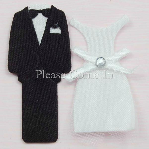 100 Pairs Tuxedo And Wedding Dress Stickers Scrapbooking Wedding Invitations
