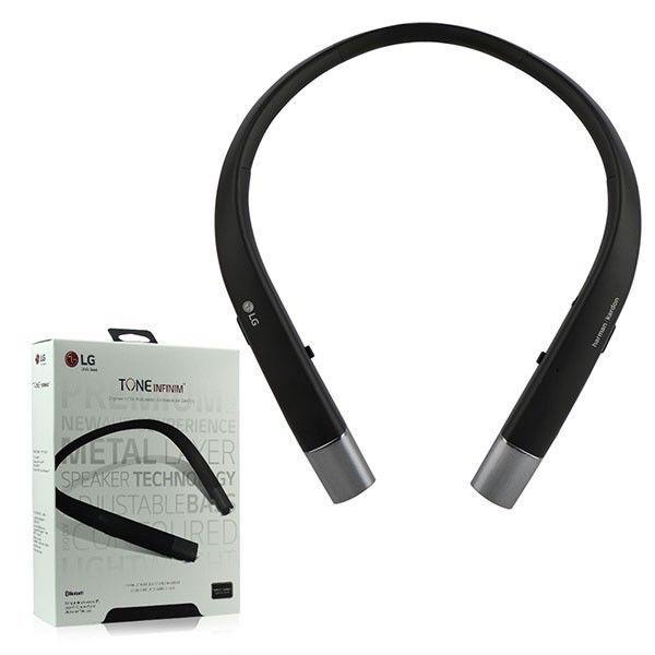 Sharper Image Bluetooth Wireless Earbuds: LG HBS-920 Tone Infinim Bluetooth Stereo Headset - Retail Packaging - Black