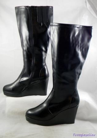 torrid womens knee high fashion boots wedge heels shoes 12