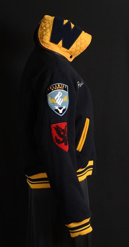 NWT Womens ROCAWEAR Varsity Cheerleader Coat XL Navy Wool Letterman