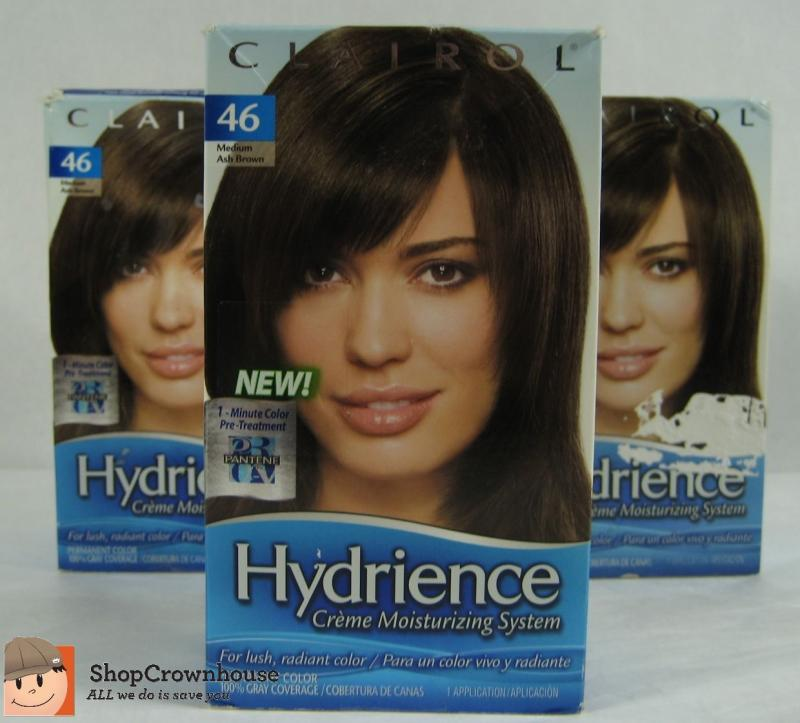 3 Clairol Hydrience Hair Color 46 Driftwood Med Ash Brown Pantene
