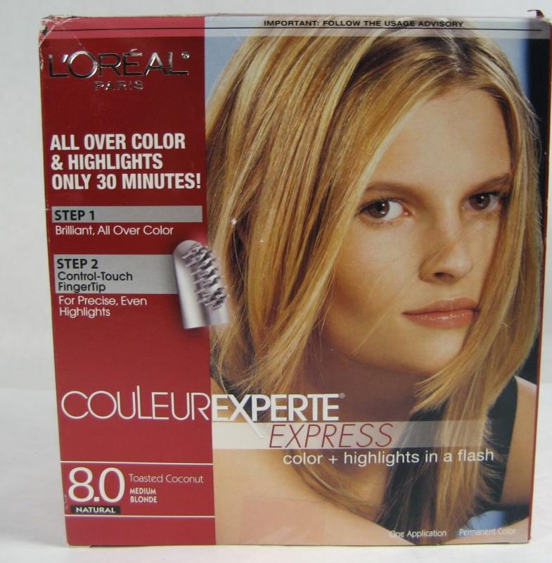 Loreal New Couleur Experte Express 8 0 Toasted Coconut Hair Color