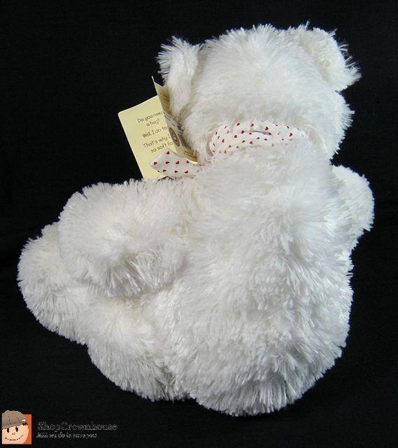 Boyds Bears Friends Bubba Lovebear White Cuddle Fluff Plush Teddy