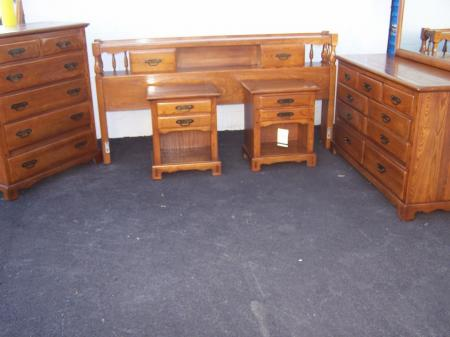 King Link Taylor Countryside Bedroom Set White Ash Solid