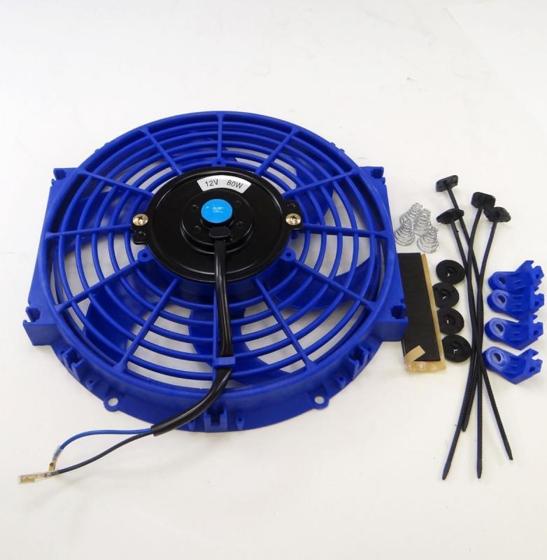 10 Inch Fan : Quot inch universal slim fan push pull electric radiator
