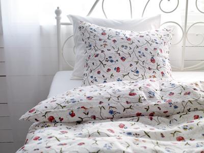 ikea flower full queen quilt duvet cover alvine orter ebay. Black Bedroom Furniture Sets. Home Design Ideas