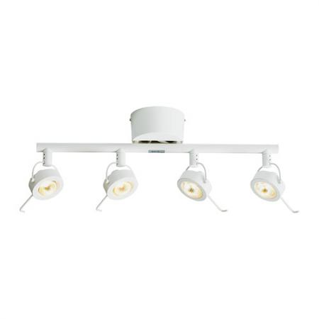 New ikea beryll quad spotlight white ceiling spot track 4 for Ikea tracking usa