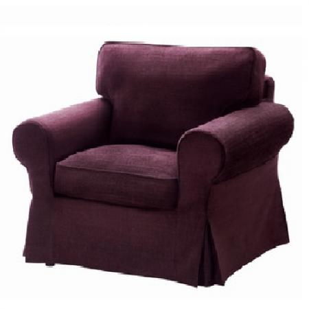 Nip ikea ektorp chair cover tullinge lilac arm chair 702 for Ikea sofa slipcovers discontinued