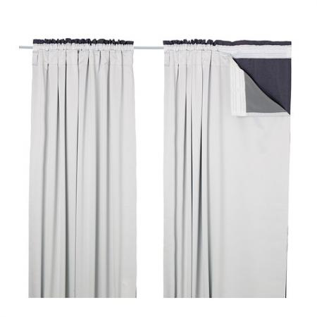 window curtain liners 56 x94 block out light well. Black Bedroom Furniture Sets. Home Design Ideas