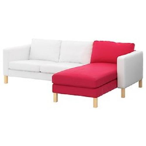 nip ikea karlstad chaise lounge add on slip cover red discontinued ebay. Black Bedroom Furniture Sets. Home Design Ideas