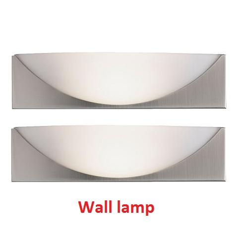 Details about 2 NIB IKEA KLAVIATUR Wall Lamp Nickel plated 1 set of 2 ...