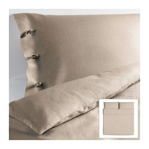 new ikea linblomma king duvet cover pillowcovers natural