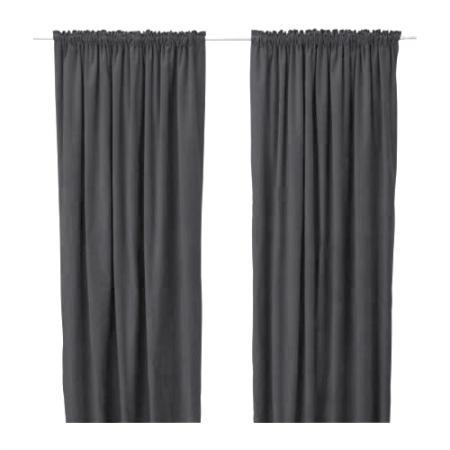 Ikea Curtains Window Drapes Oleby Rare Gray 2 Panels Ebay