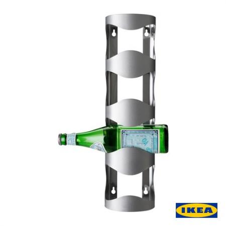 New Ikea Vurm 4 Bottles Rack Wine Holder Stainless Steel