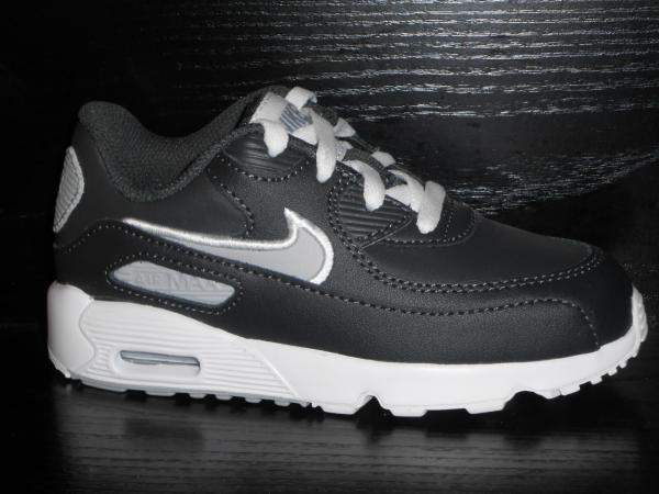 NIKE AIR MAX 90 TD LEATHER TODDLER ANTHRACITE GREY UK SIZE 4.5 RRP ...