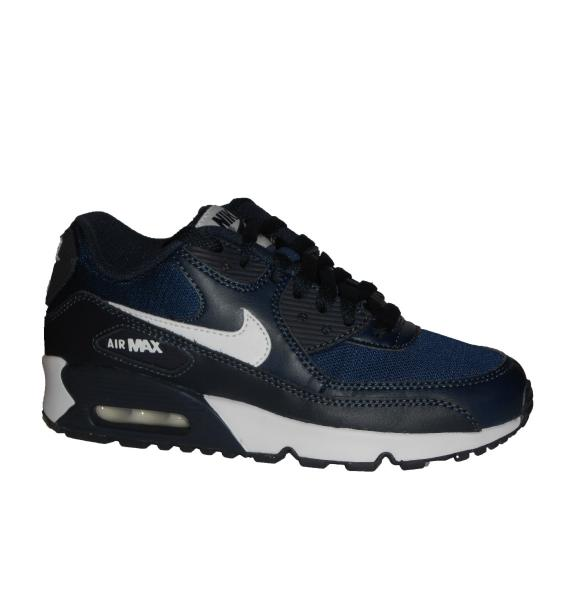 Details about NIKE AIR MAX 90 MESH BOYS GIRLS SIZE 5 6 BLACK GREY TRAINER SHOE RUN