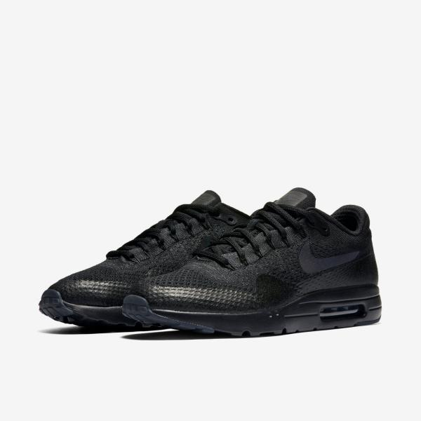 4e4def999d2b4 Nike Air Max 1 Ultra Flyknit Black Mens Running Trainer Shoe Size 6 ...
