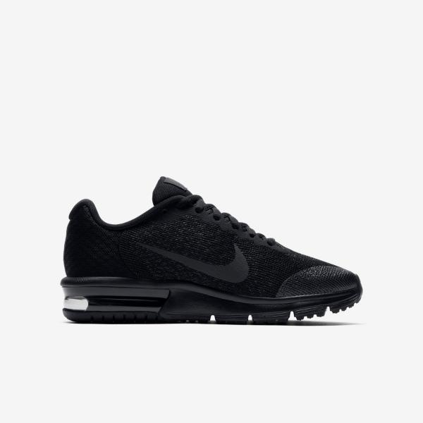 cf96c7419d367 Nike Air Max Sequent 2 (GS) Black Size 4 - 6 Running Trainer Shoe