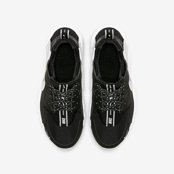 nouveau produit 439c2 f6d6e Détails sur Nike Huarache Courir Garçons Filles Course Baskets Noir Blanc  Chaussure UK 4.5