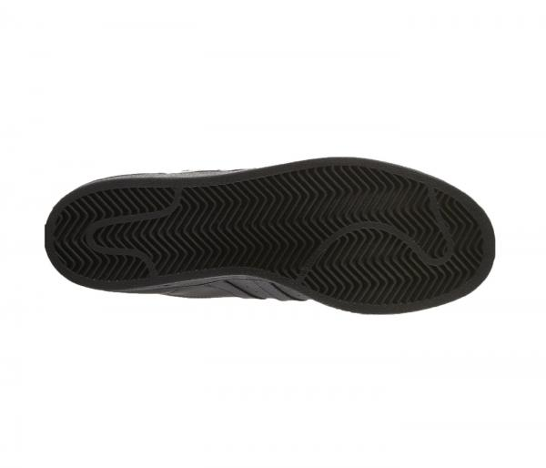 Détails sur Adidas Superstar Noir Hommes Baskets Taille 7 12 Nouveaux