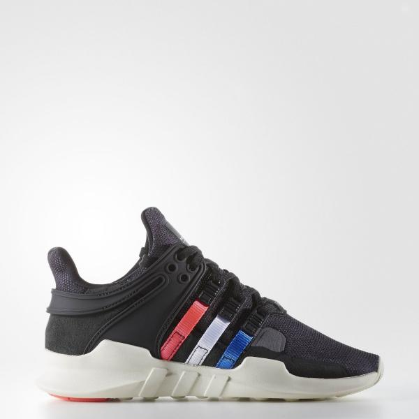 ADIDAS EQT SUPPORT ADV JUNIORS WOMENS RUNNING SHOES TRAINERS BLACK ...