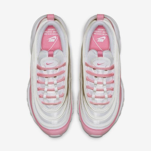 Details zu Damen nike air max 97 Se Laufschuhe SIZE 4.5 Weiß Rosa