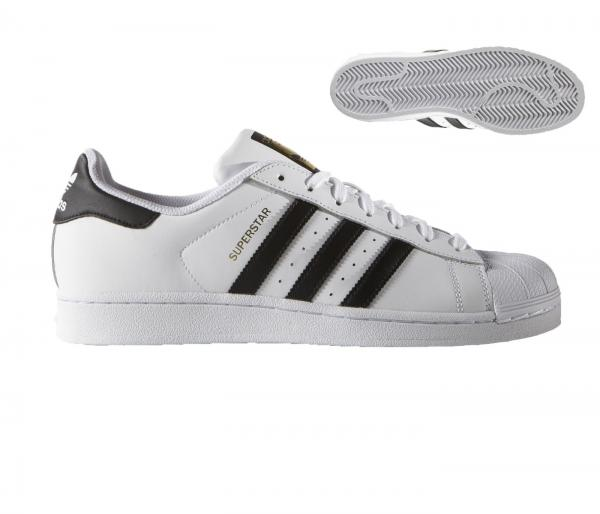 Details zu Adidas Superstar Herren Schwarz Weiß Trainer Schuhgröße 7.5 12 Neu