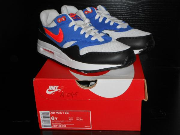 NIKE AIR MAX 1 BOYS GIRLS TRAINER MULTICOLORED RRP £60/- SIZE 5.5 ...