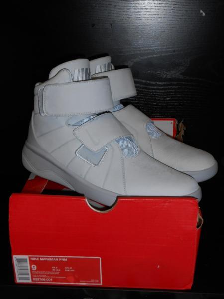 Dettagli su Nike Markxman Premium Uomo Scarpe da Allenamento Misura 8 UK Platino Puro