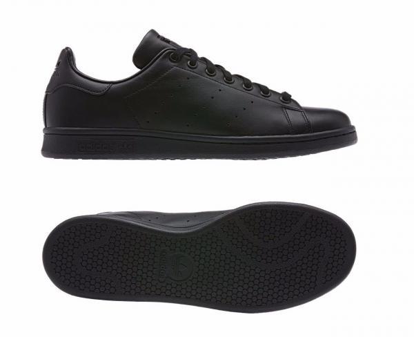 Dettagli su Adidas Stan Smith Scarpe Ginnastica Uomo Nero Misura 17.7cm 11 Nuovo Rrp £87
