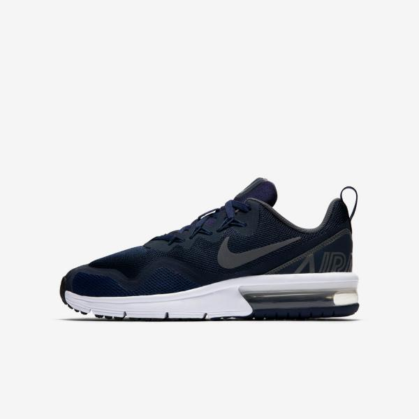 une autre chance cd78c 8c799 Details about Nike Air Max Fury Boys Trainer Shoe Size 4 - 5.5 Obsidian  Dark Grey RRP £55/-