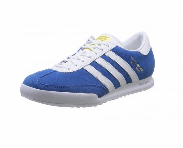 Details about ADIDAS BECKENBAUER MENS TRAINER SHOE SIZE 11 BLUE WHITE RRP £80