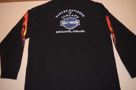 90s reykjavik iceland harley davidson long sleeve t shirt