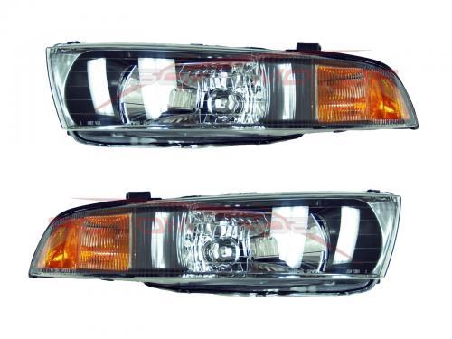 2002-2003 Mitsubishi Galant Head Lights Lamps Driver & Passenger Side LH+RH | eBay