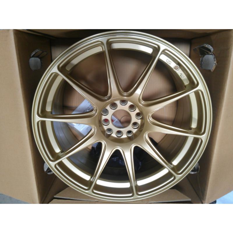 XXR 527 18 18x8 75 20 Gold Wheels Rims Pair New
