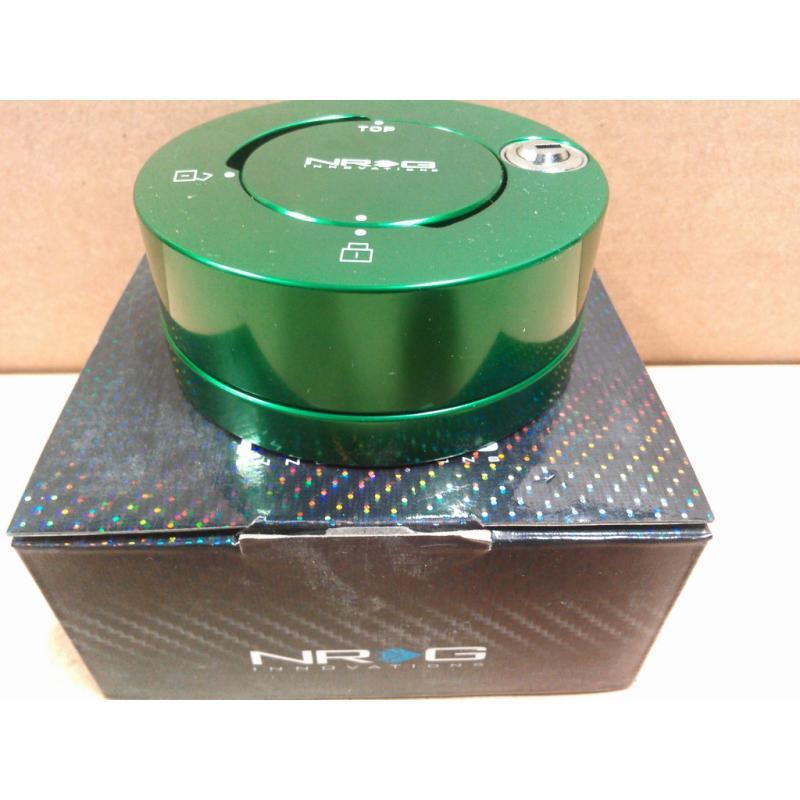 NRG Quick Release Steering Wheel Hub Lock for All Generation Green SRK