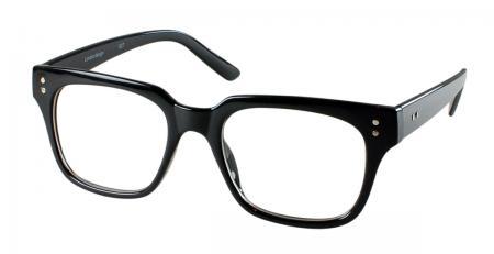 Black Square Frame Geeky Clear Lens Nerd Glasses Vintage ...