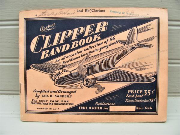 1936 Ascher S Clipper Band Book Clarinet 36 Grade School Band