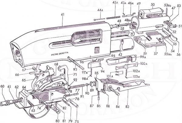 Beretta A302 Shotgun Extractor And Pin Al1 Al2 A 300 301