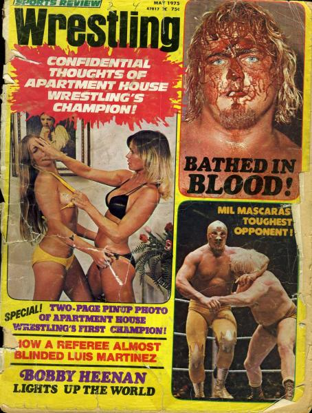 Apartment Wrestling Girls http://www.ebay.com/itm/APARTMENT-WRESTLING-WOMEN-MIL-MASCARAS-Sports-Review-Wrestling-Magazine-May-1975-/380629785020