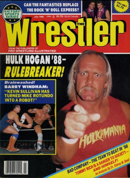 Details about HULK HOGAN The Wrestler Wrestling Magazine July 1988 BARRY  WINDHAM/MIKE ROTUNDO
