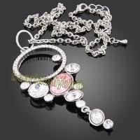 18K white gold GP SWAROVSKI crystals necklace 667