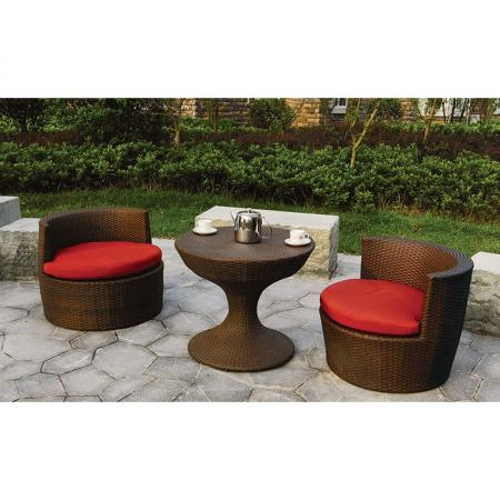 new rattan chair nesting set patio chair table set
