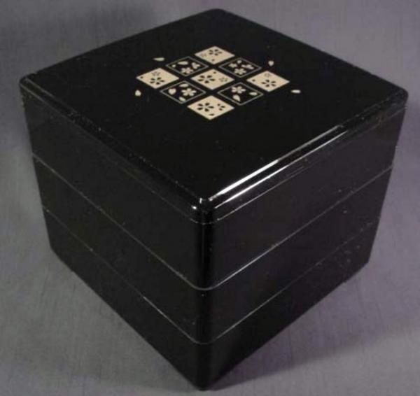 new japanese jubako stacking bento box 3 tier 2 tier lunch box ebay. Black Bedroom Furniture Sets. Home Design Ideas