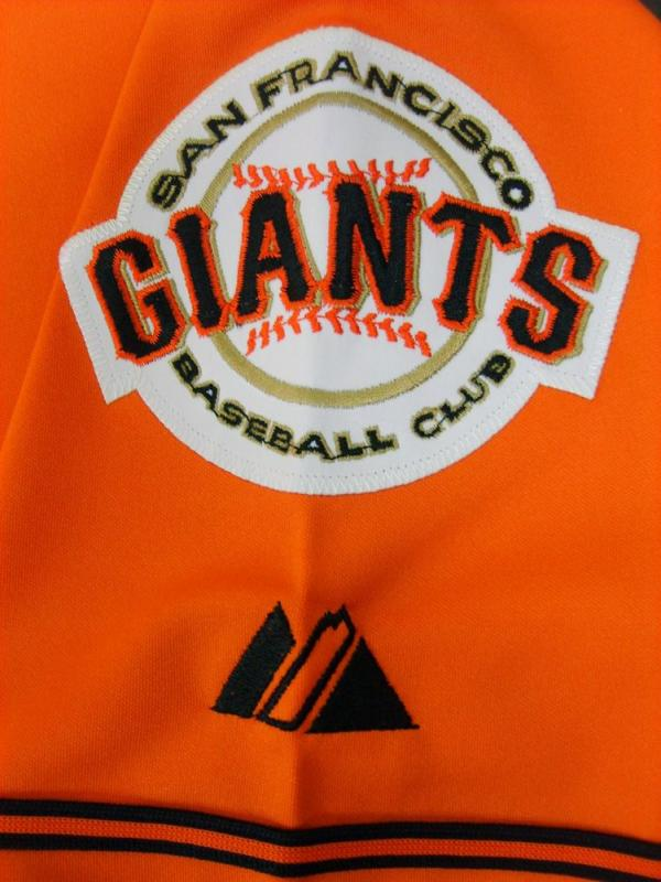 San Francisco Giants #38 2011 All Star Patch Orange Jersey