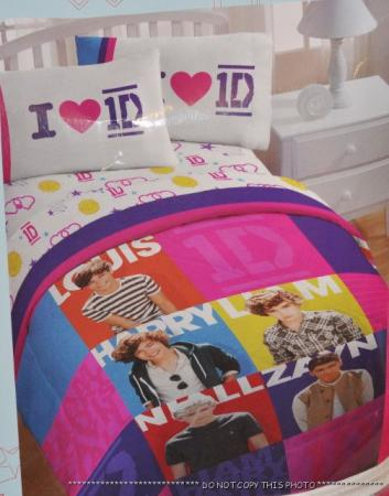 new 1d one direction twin comforter sheet set bedding fits single bed. Black Bedroom Furniture Sets. Home Design Ideas