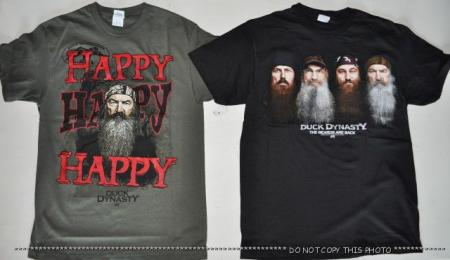 Details about A&E DUCK DYNASTY T SHIRT PHIL HAPPY WILLIE SI JASE