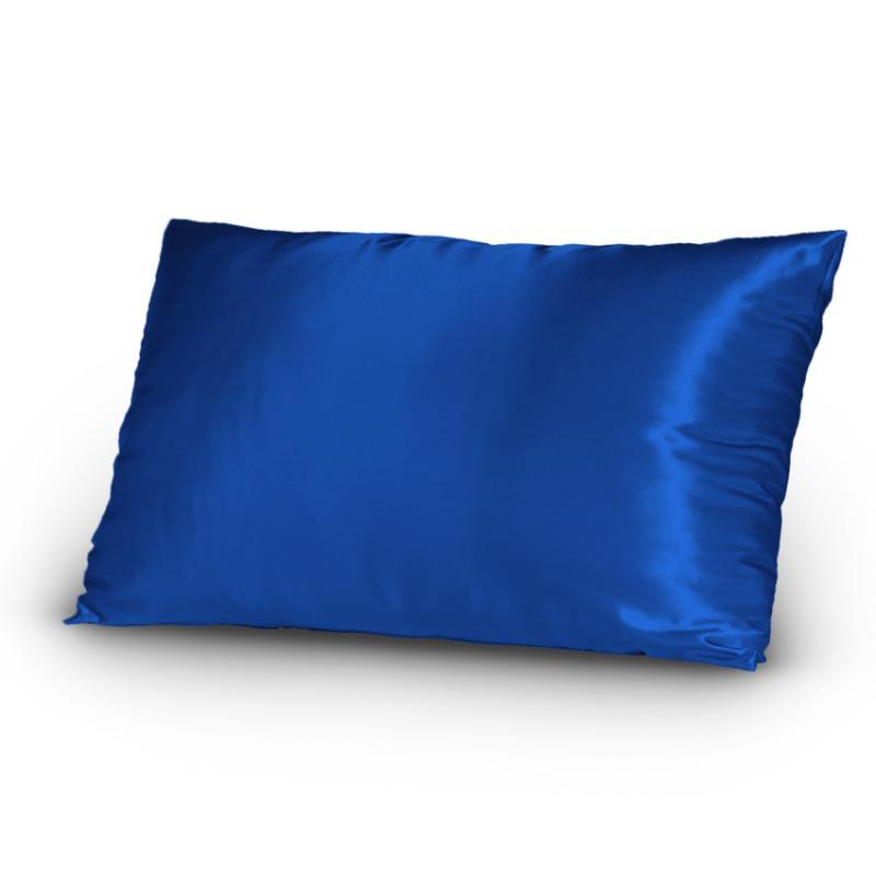 Pair Of Satin Lingerie Pillowcases King Size Navy New Ebay