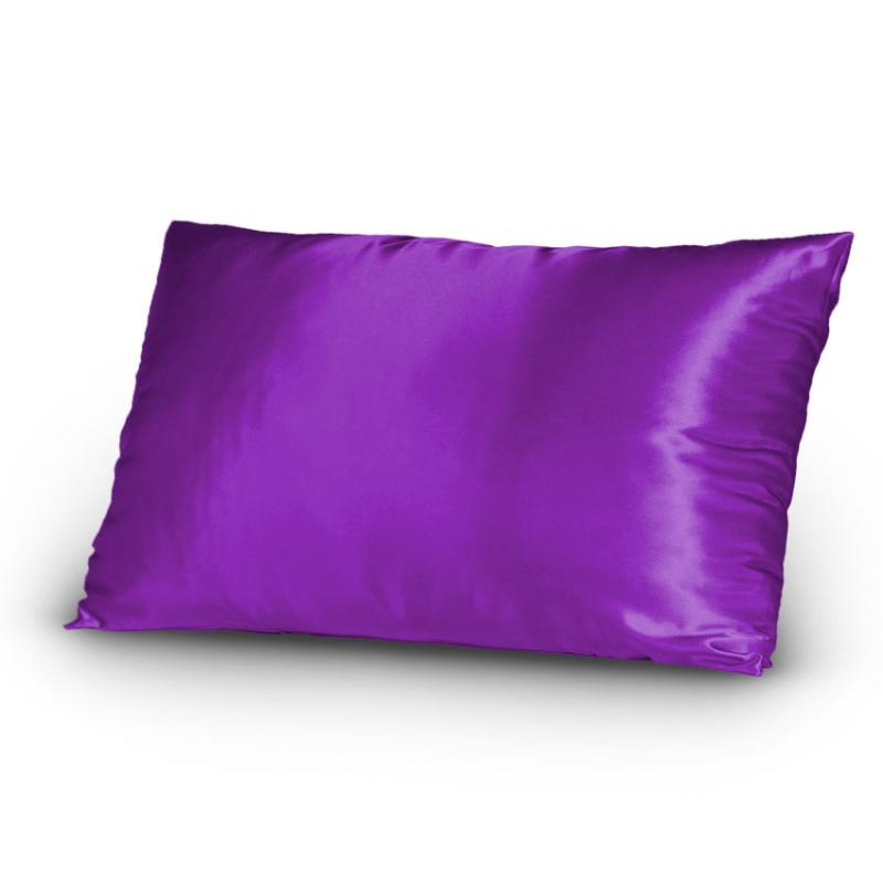Pair Of Satin Lingerie Pillowcases King Size Purple New Ebay