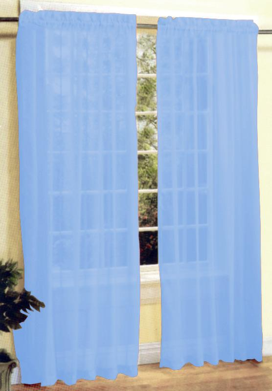 New 2 Pieces Sexy Sheer Voile Window Curtain Panel Set Light Blue Ebay